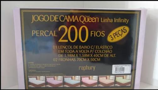 Jogo de cama QUEEN INFINITY Percal 200 fios