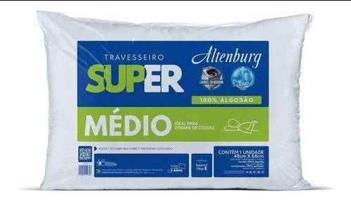 TRAVESSEIRO SUPER SUPORTE MÉDIO 0,48CM X 0,68CM 100% ALGODÃO - ALTENBURG