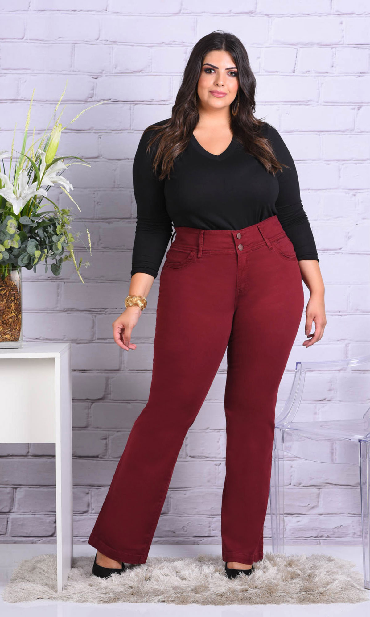 Shorts Flare Plus Size