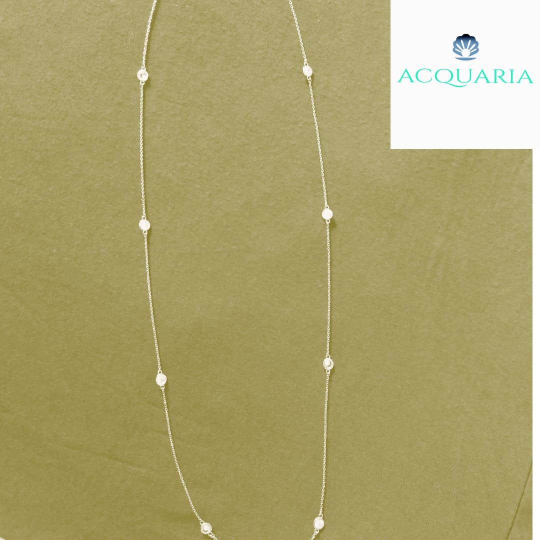 Colar Nano Opala Pena Tiffany  70 cm