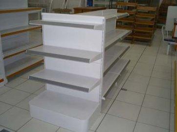 Gôndola Metal Central 1,30mts x 0,90cm c/ Base de 40cm + 3 Bandejas de 30cm