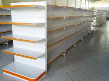 Gôndola Metal Central 1,80mts x 1,10mts c/ Base 0,50cm + 4 Bandejas de 0,40cm