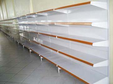 Gôndola Metal Lateral 1,80mts x 0,60cm c/ Base 0,50cm + 4 Bandejas de 0,40cm