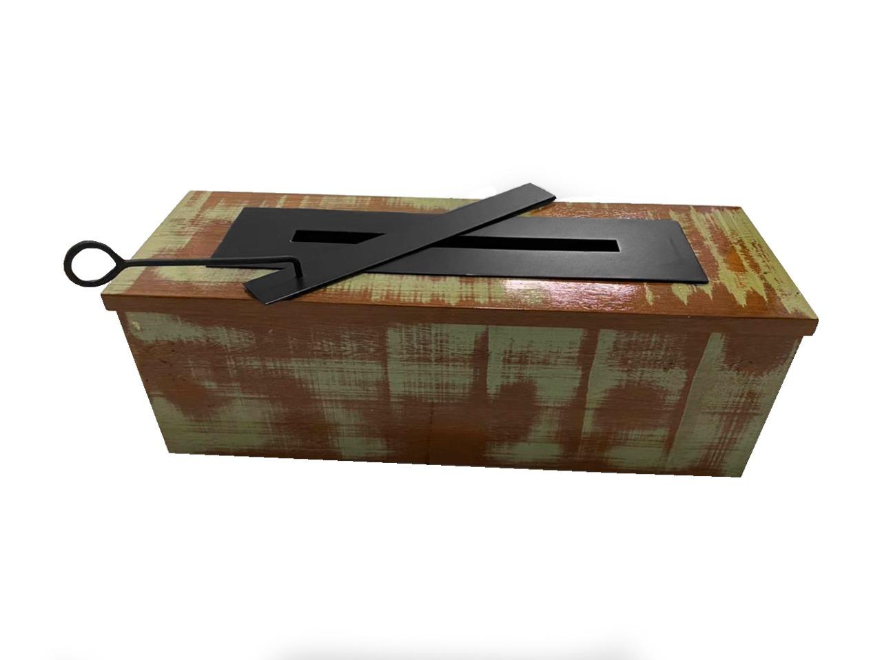 Lareira Ecológica Rústica Exclusiva 70cm Queimador Álcool C/ Rodinhas