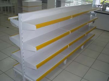 Mini Gôndola Metal Central 1,20mts x 0,70cm c/ Base de 30cm + 3 Bandejas de 25cm