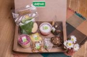 Box saudável com suco detox