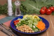 Salada Bowl Arco-íris com molho italiano + Quiche de Queijo (330g)