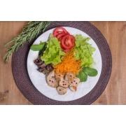 Salada Bowl Da casa com molho de ervas + frango grelhado com limão siciliano (300g)