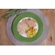 Strogonoff light de carne + Arroz Integral + Batata sauteé (350g)
