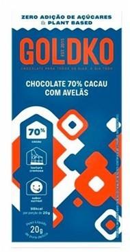 Chocolate GoldKo 70% com avelã (20g)