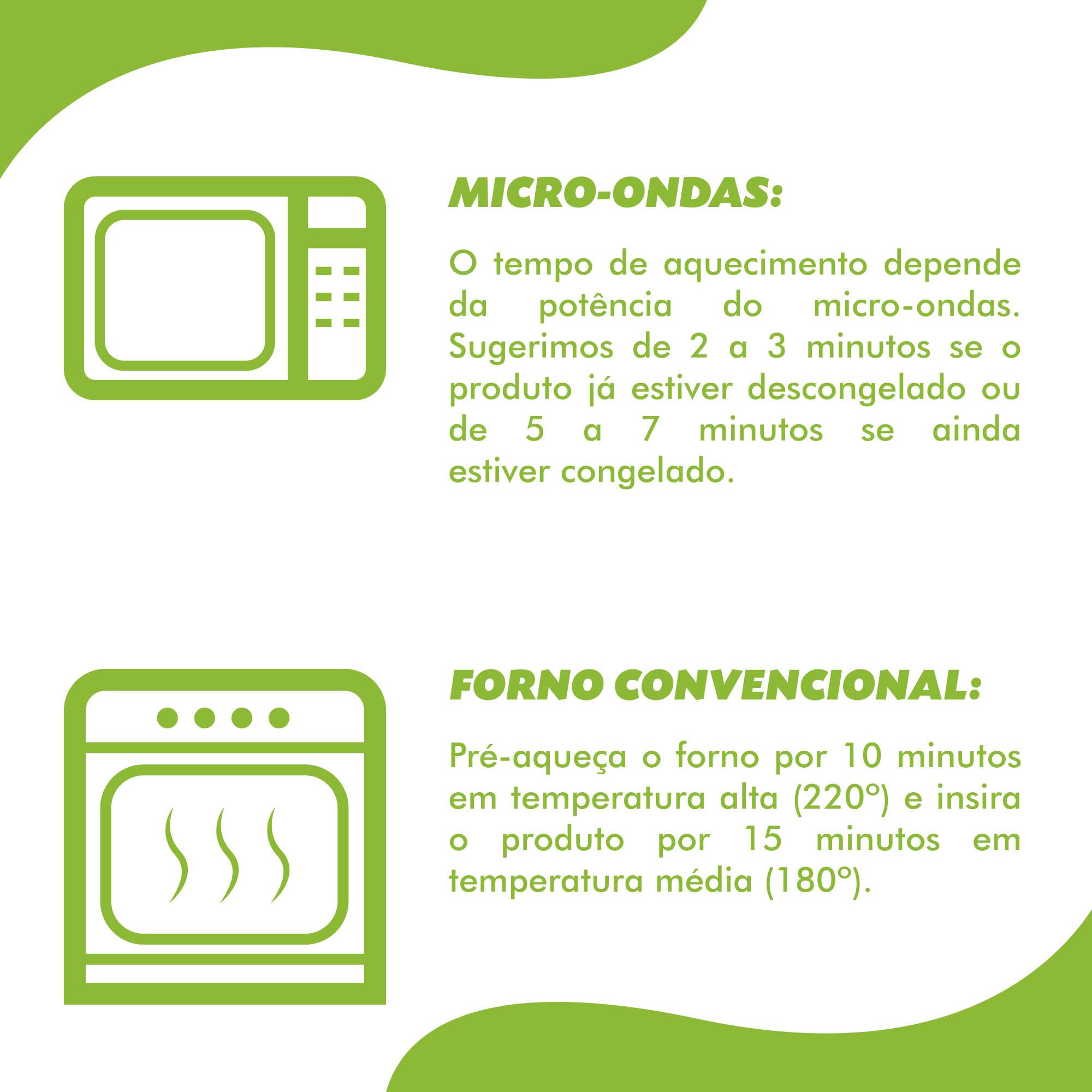 Moqueca pupunha + farofa banana + arroz integral (270g)