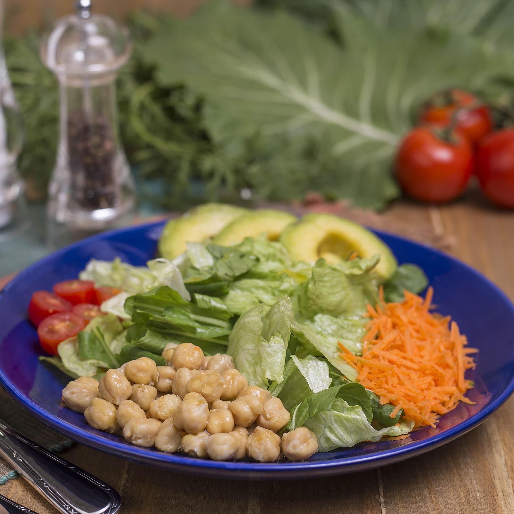 Salada Bowl arco-íris + molho italiano (200g)
