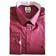 Camisa ML Slim fit Flamê maquinetada