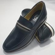 Sapato Casual Mocassim Loafer Couro Nobre - Marinho