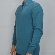 Suéter Gola V em Lã Zanatta- Verde Piscina