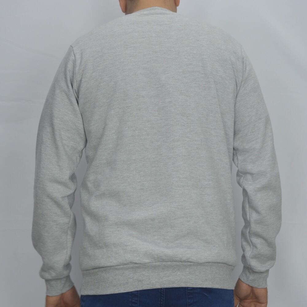 Blusa Básica de Moletom Sport - Cinza claro  - Successful´Man - Moda Masculina