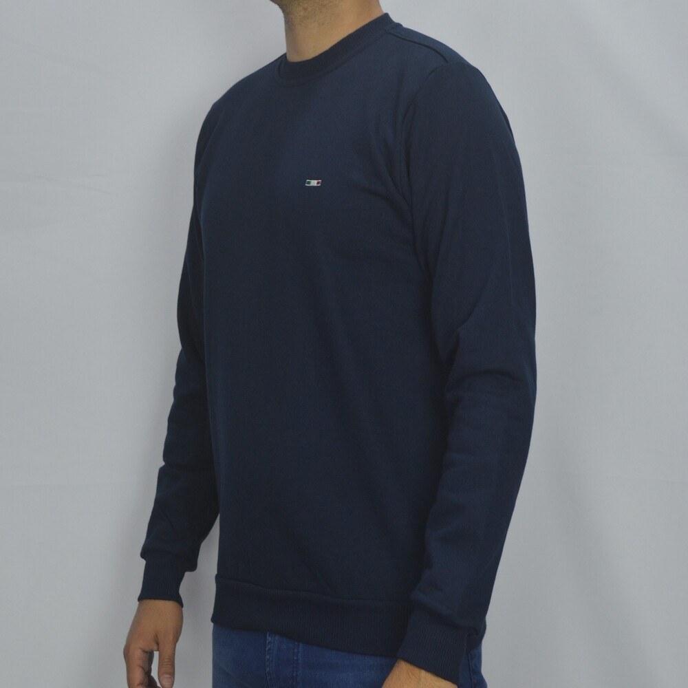 Blusa Básica de Moletom Sport - Marinho  - Successful´Man - Moda Masculina