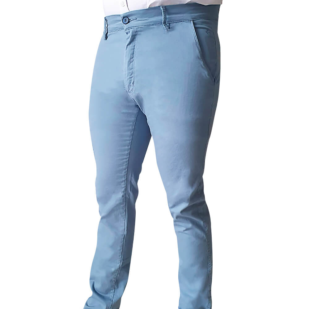 Calça slim sarja alfaiataria com elastano