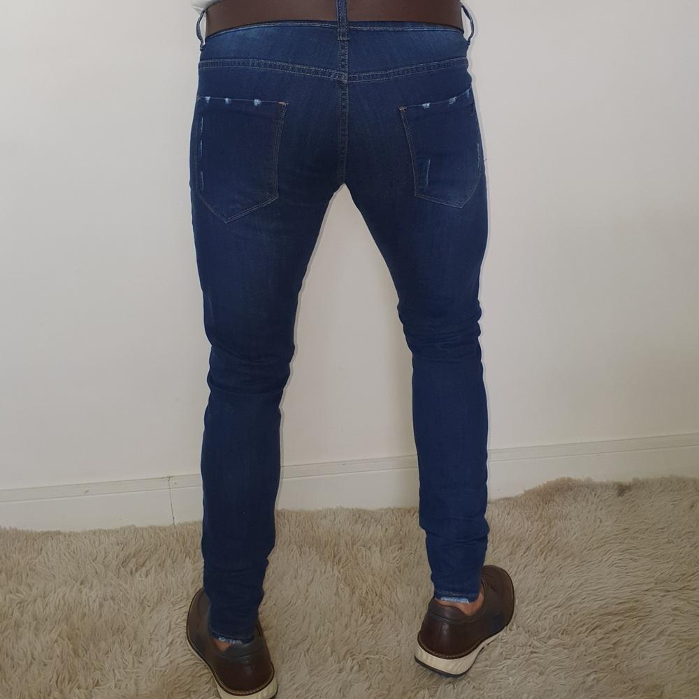 Calça Jeans Skinny Zikani - Azul Índigo  - Successful´Man - Moda Masculina
