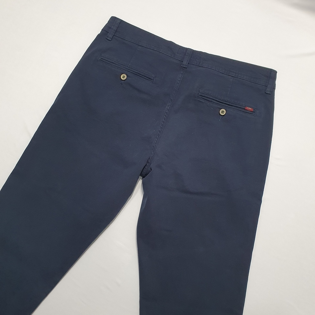 Calça Sarja Afaiataria Slim Bolso Faca Azul Petrólio - C.O 2 Menswear  - Successful´Man - Moda Masculina