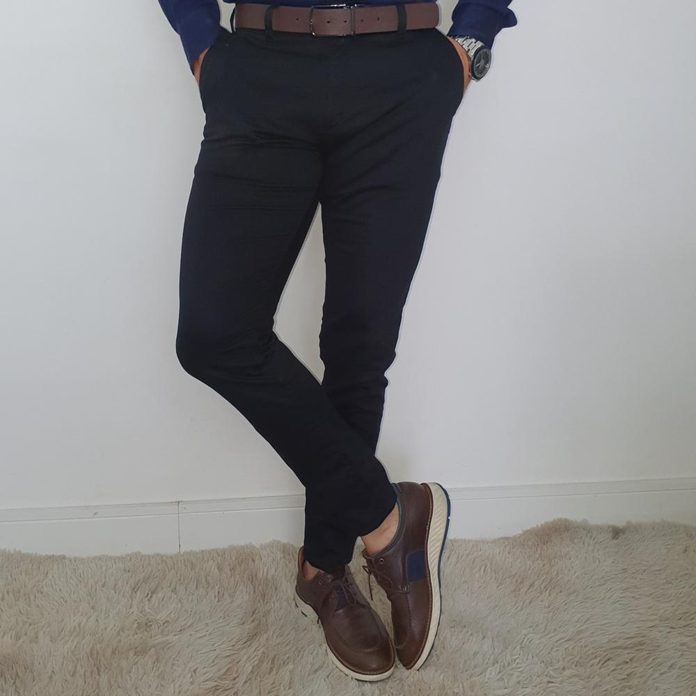 Calça Sarja Alfaiataria Skinny Zikani - Preto  - Successful´Man - Moda Masculina