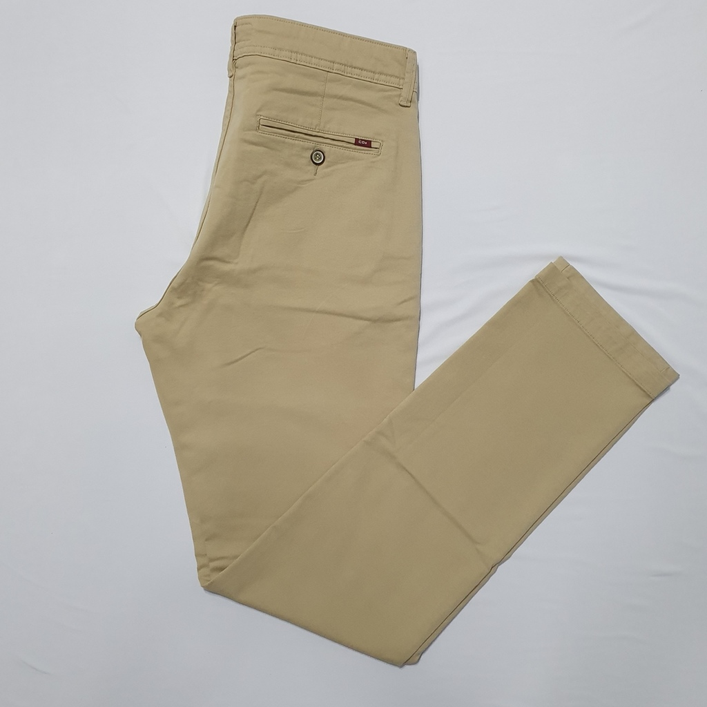 Calça Sarja Alfaiataria Slim Bolso Faca Cáqui - C.O 2 Menswear  - Successful´Man - Moda Masculina