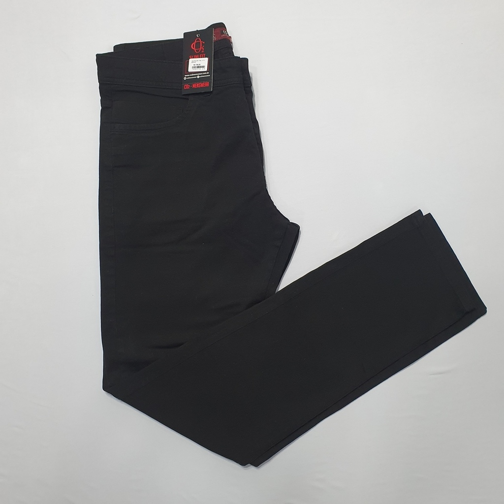 Calça Sarja Alfaiataria Slim Preta - C.O 2 Menswear  - Successful´Man - Moda Masculina