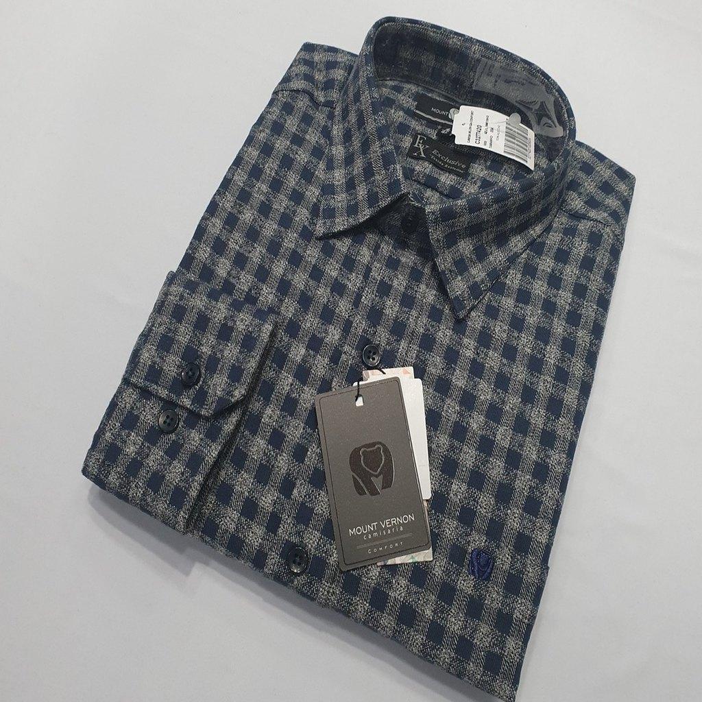 Camisa De Flanela Xadrez Manga Longa - Mount Vernon