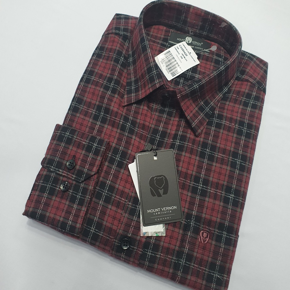 Camisa De Flanela Xadrez Manga Longa - Mount Vernon  - Successful´Man - Moda Masculina