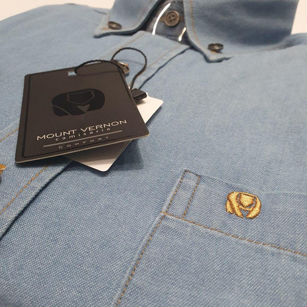 Camisa Jeans Em Algodão Amaciado - Mount Vernon