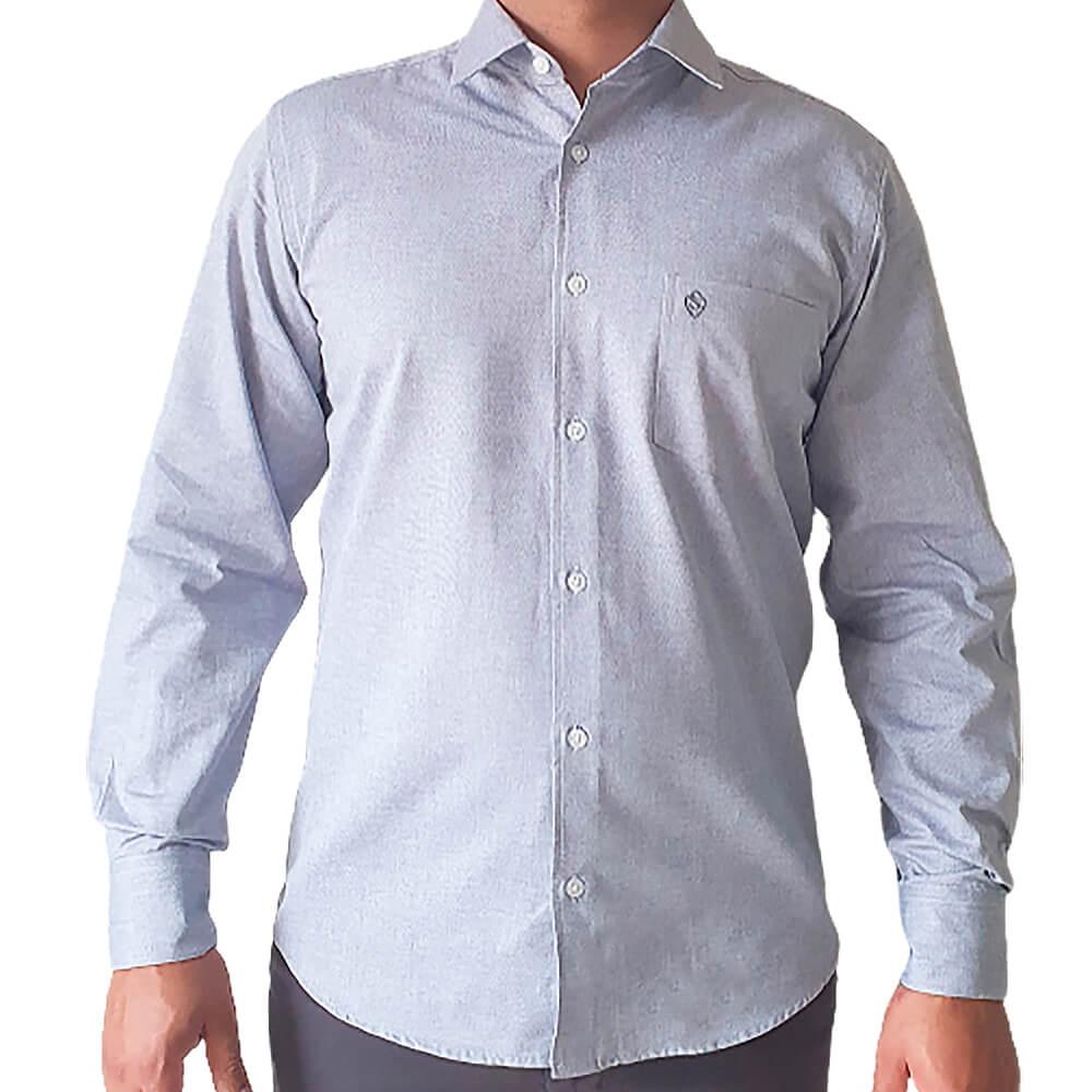 Camisa ML comfort fit  em algodão fio 60