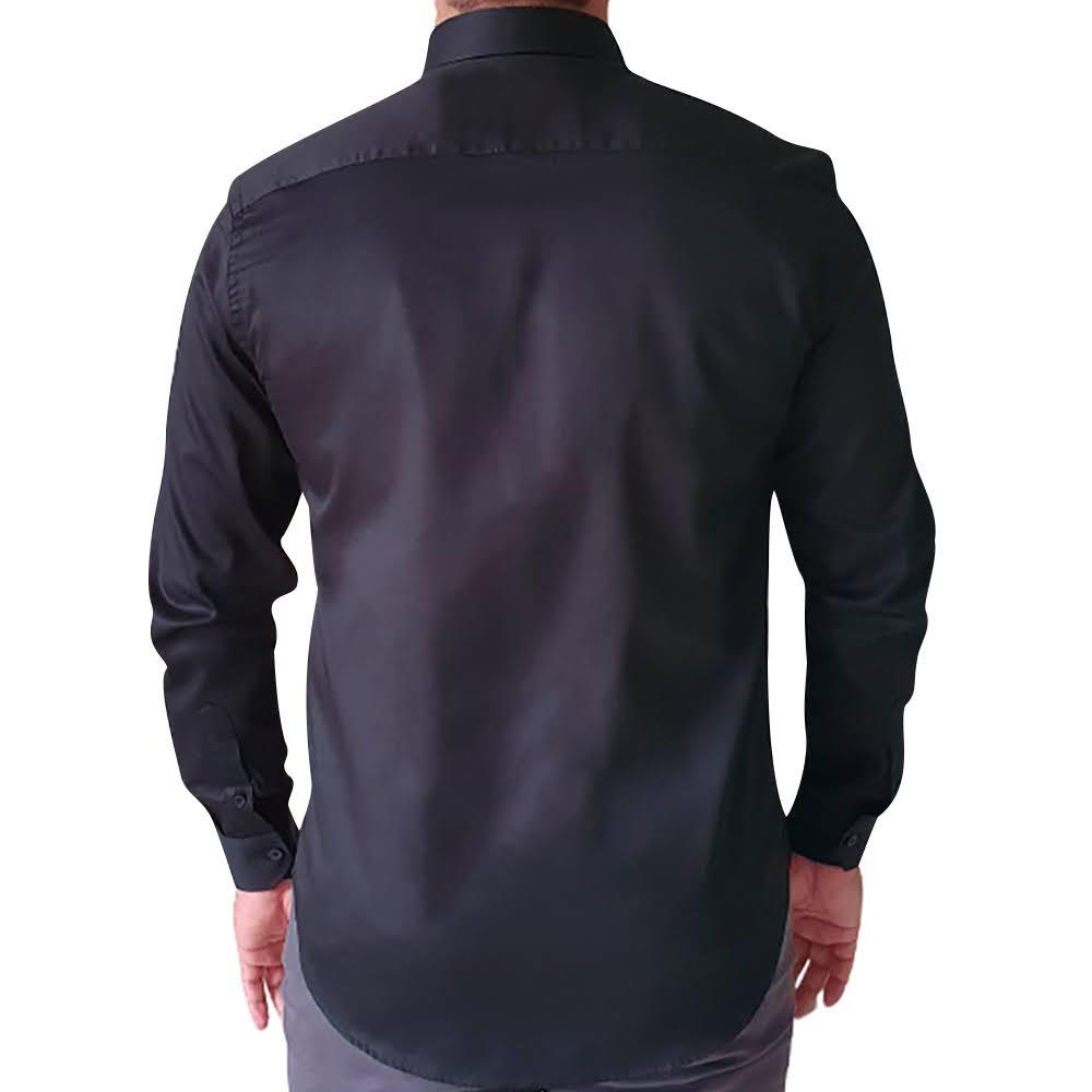 Camisa ML Slim fit Amaciada