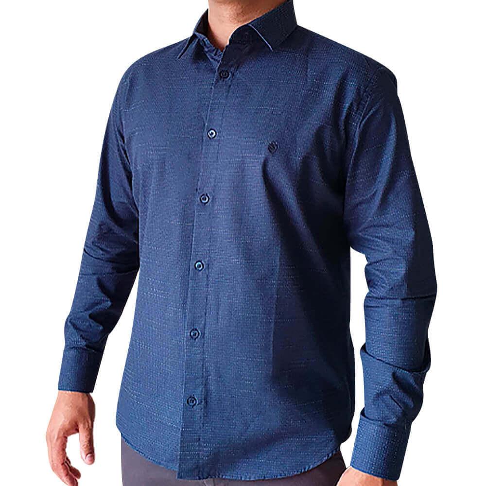 Camisa ML Slim fit Pontos Poá