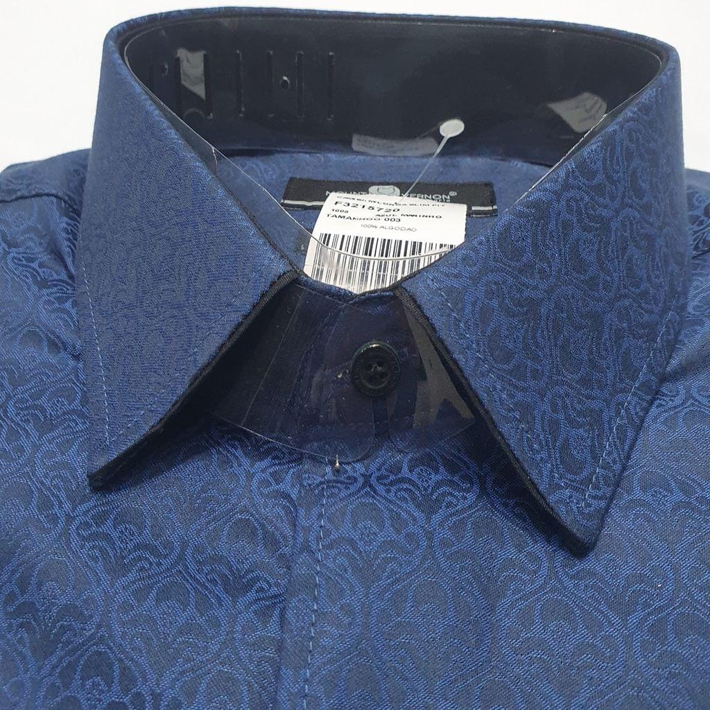 Camisa Slim Fit Em Algodão Egípcio - Mount Vernon  - Successful´Man - Moda Masculina
