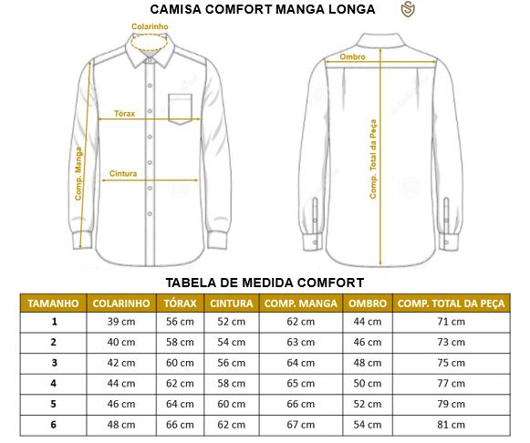 Camisa social ML algodão egípcios amaciada