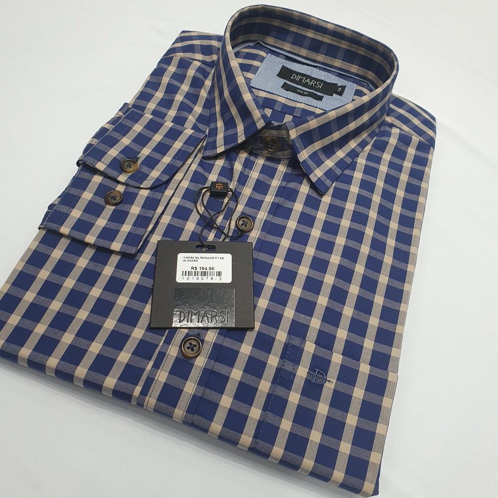 Camisa Xadrez Manga Longa Fio 80 - Di Marsi