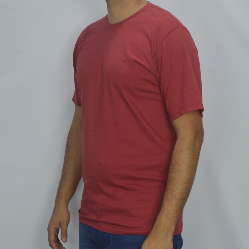 Camiseta T-shirt Slim Básica Ogochi - Bordô  - Successful´Man - Moda Masculina