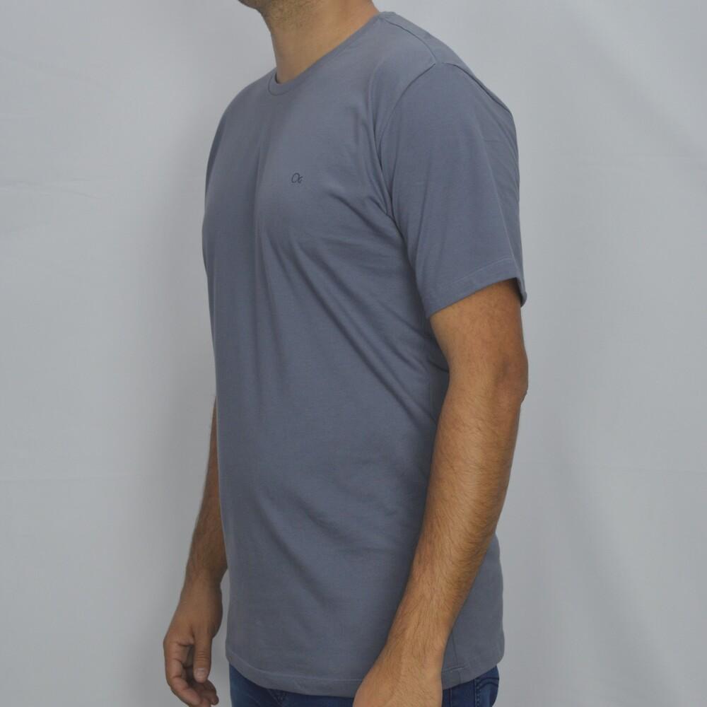 Camiseta T-shirt Slim Básica Ogochi - Cinza  - Successful´Man - Moda Masculina