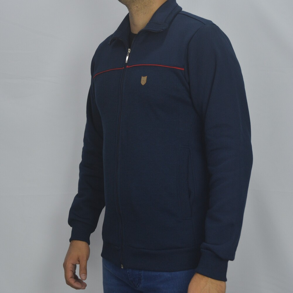 Jaqueta de Moletom Gola Alta Masculina - Marinho  - Successful´Man - Moda Masculina