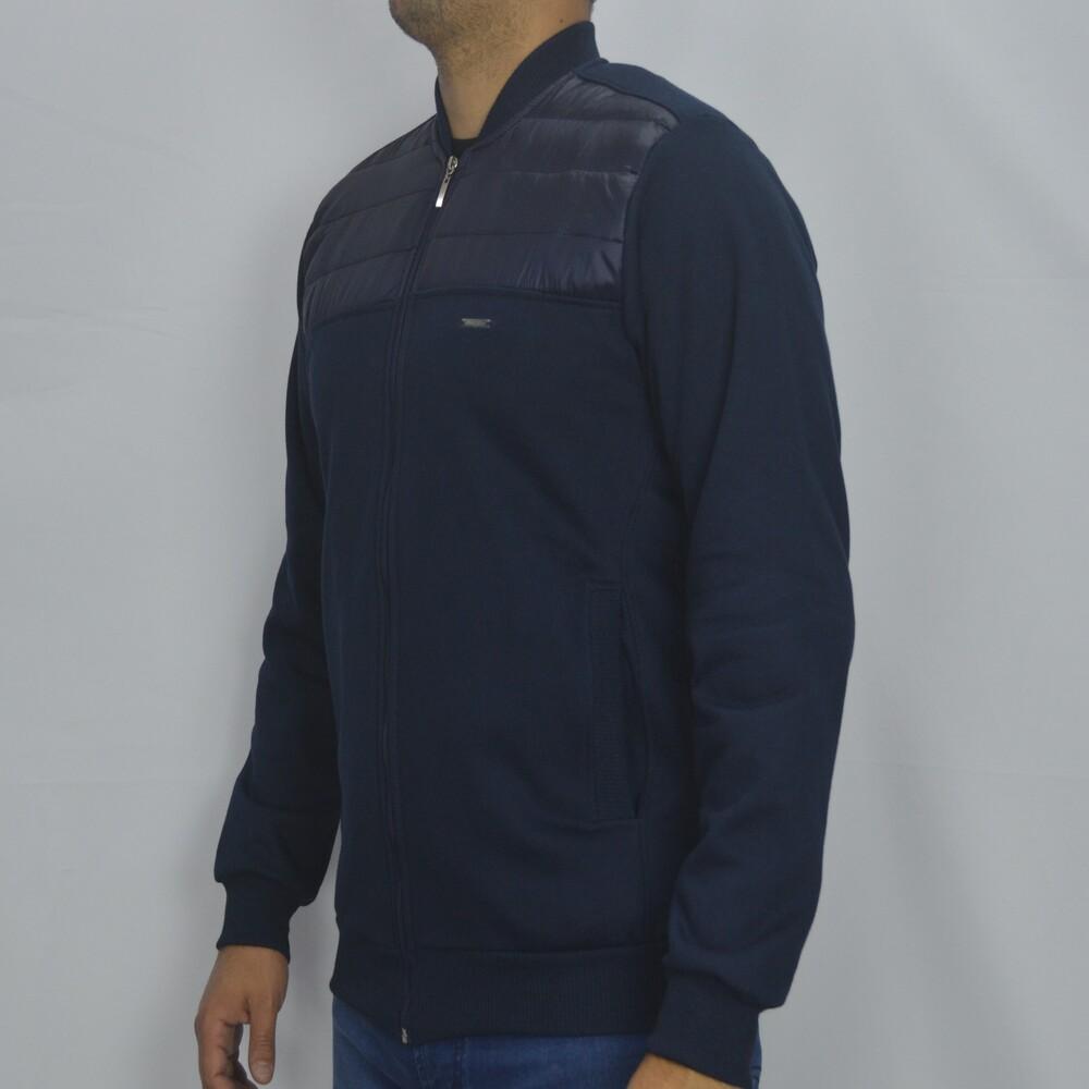 Jaqueta de Moletom Sport Masculina - Marinho  - Successful´Man - Moda Masculina