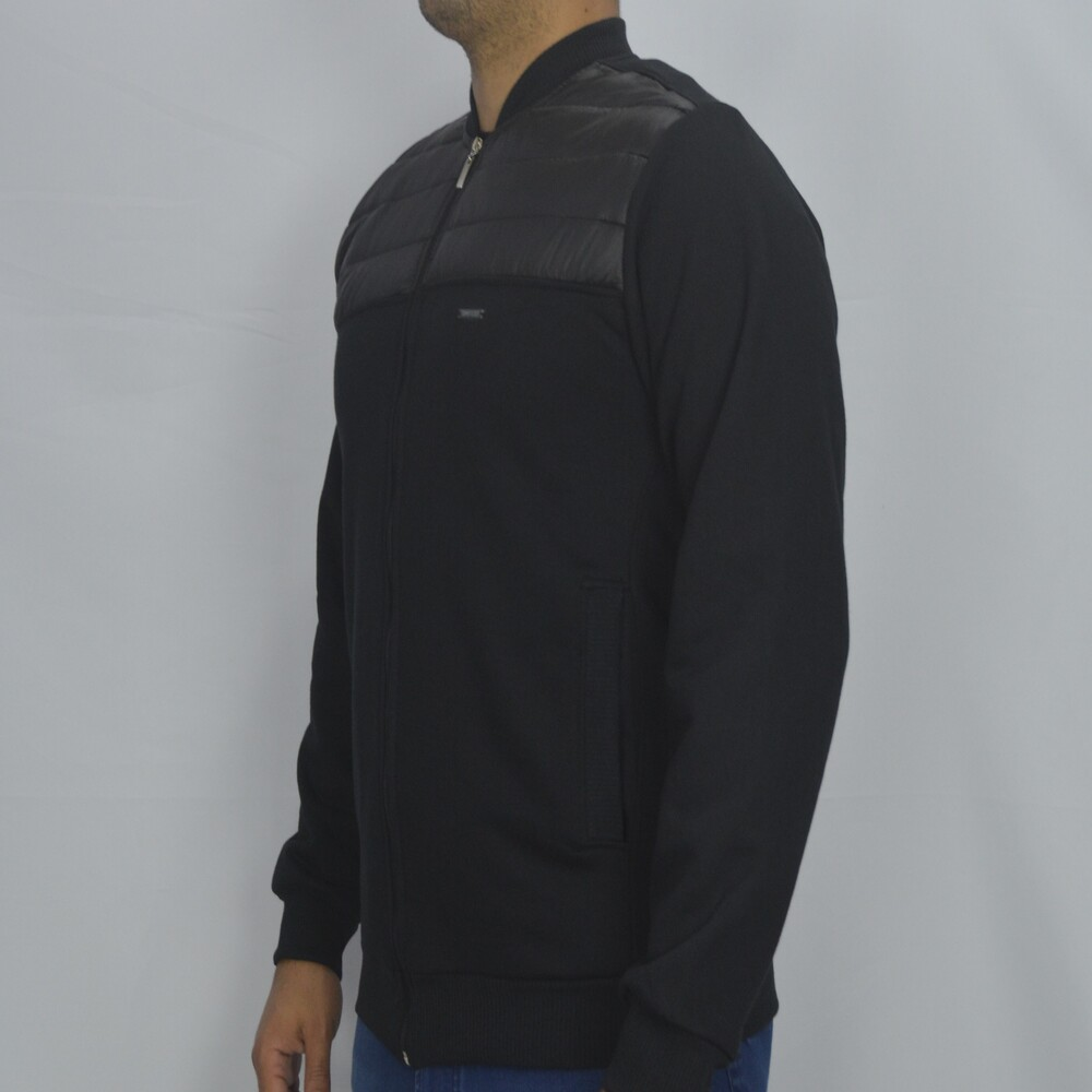 Jaqueta de Moletom Sport Masculina - Preto  - Successful´Man - Moda Masculina