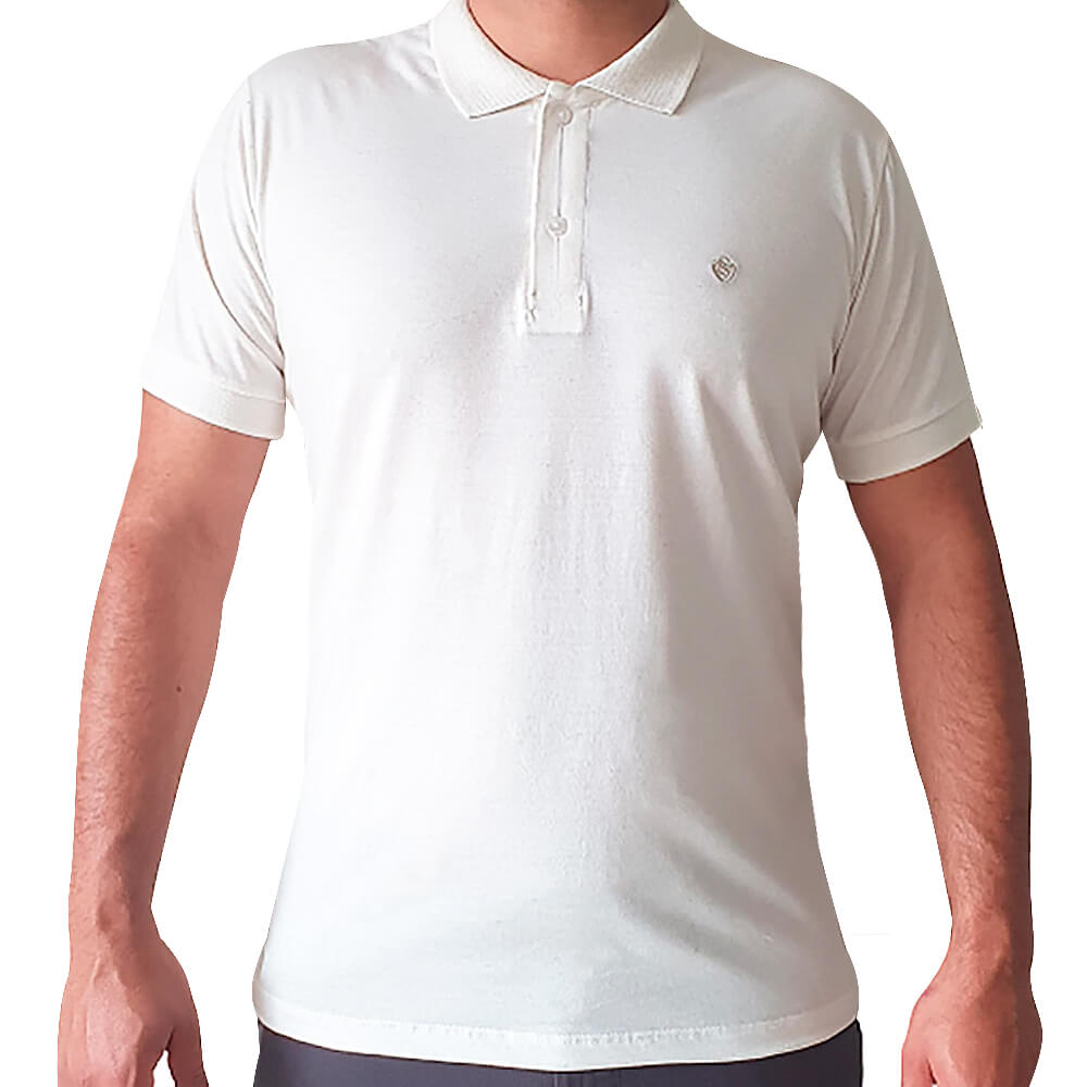 Polo Cotton linho Off-white