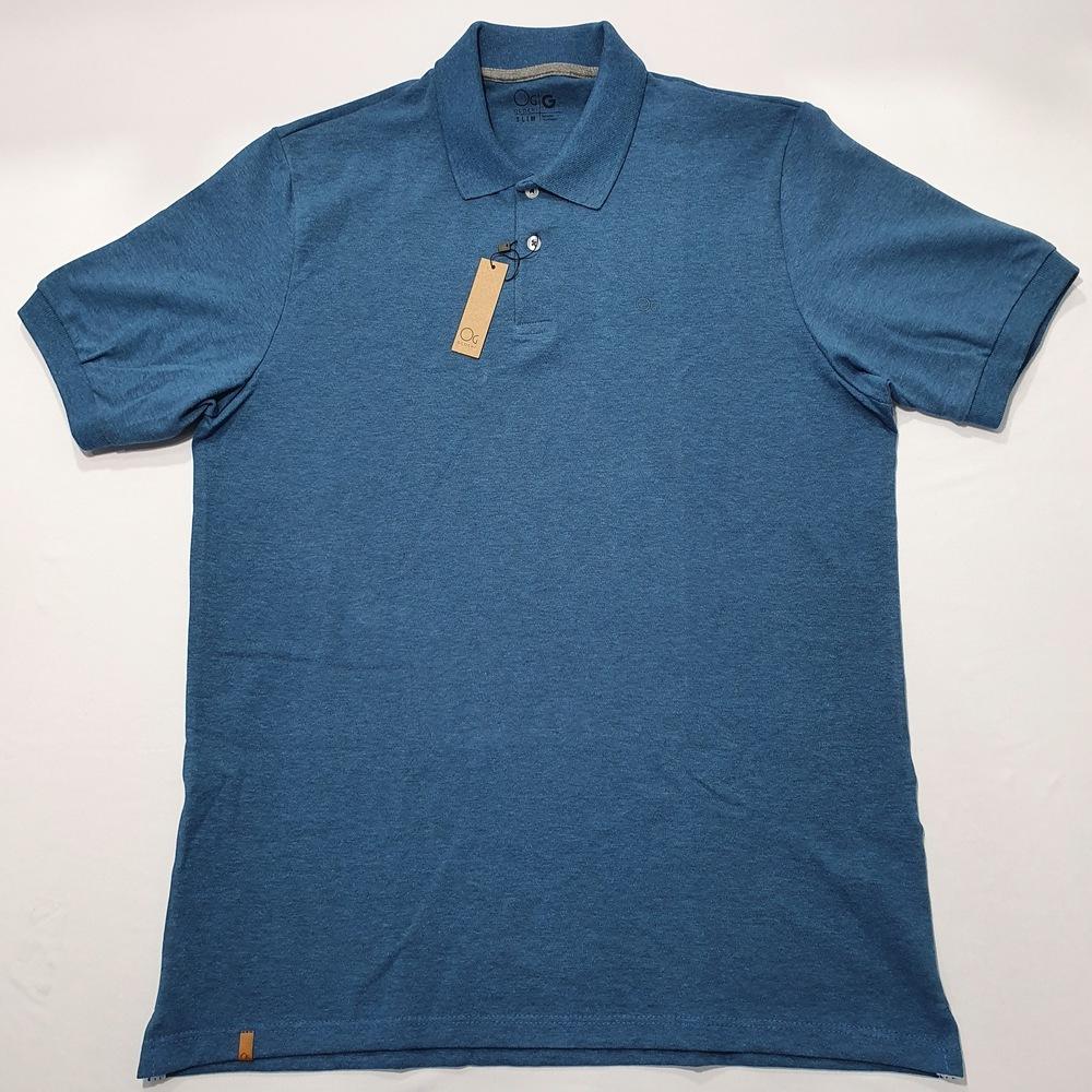 Polo MC Casual Slim Ogochi - Azul Mescla  - Successful´Man - Moda Masculina