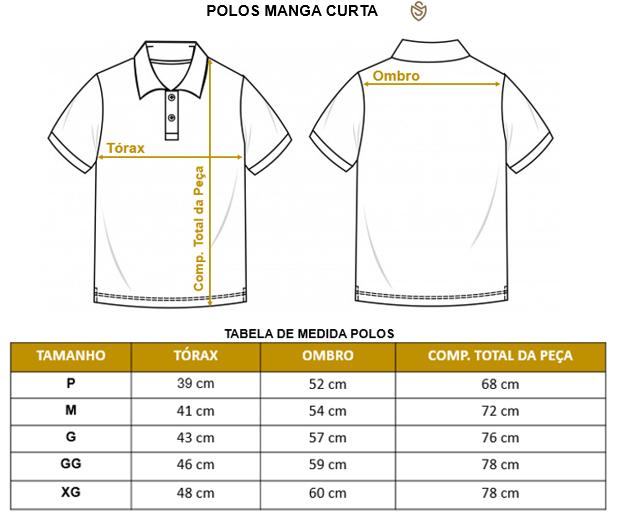 Polo Piquet Flamê Maquinetada