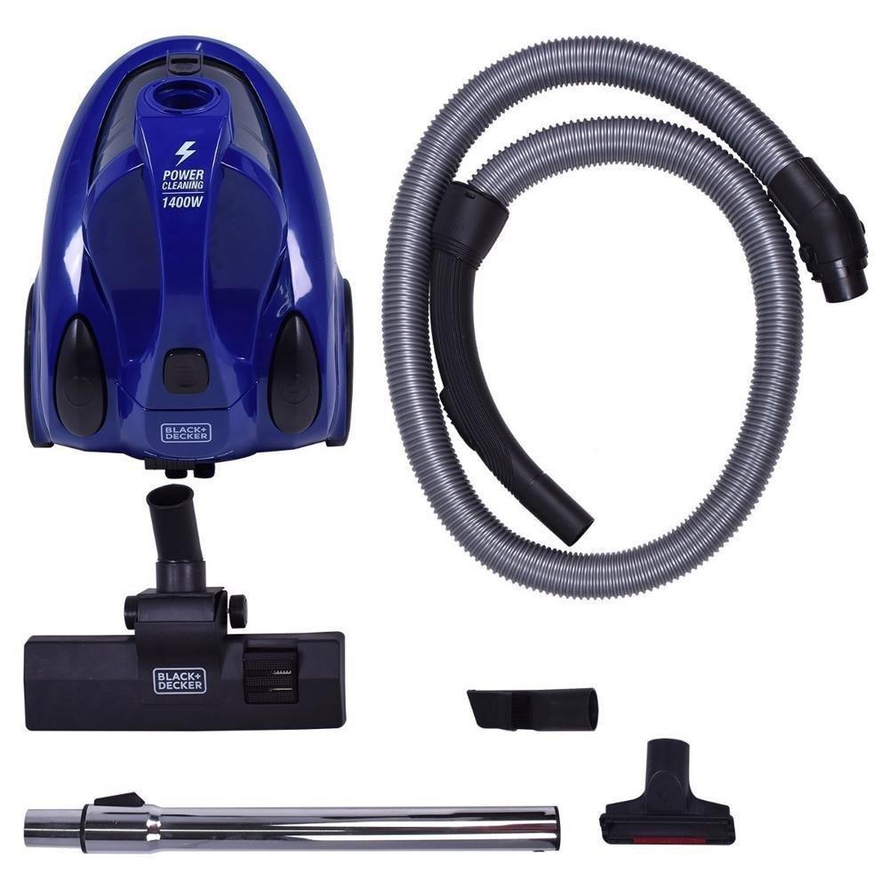 Aspirador de Pó Azul Ciclônico 2L 1400W Black Decker