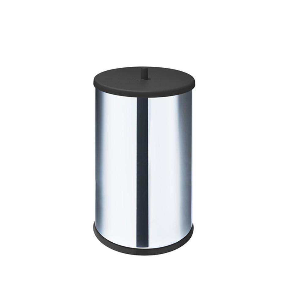 Lixeira Inox Preta 9.1 Litros Para Cozinha, Pia E Banheiro