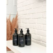 Frasco Black Banheiro Completo 500ml - 3 Peças