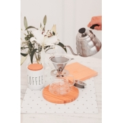 Kit Jarra de Café + Filtro Coador Reutilizável Inox