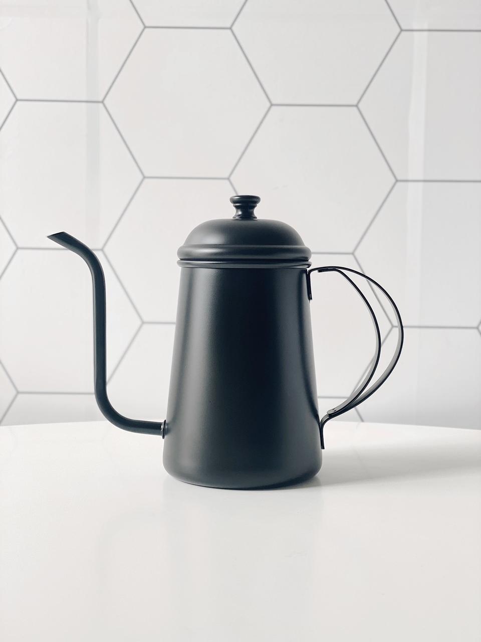 Bule Bico Fino Black - 700ml  - CASACOBRE