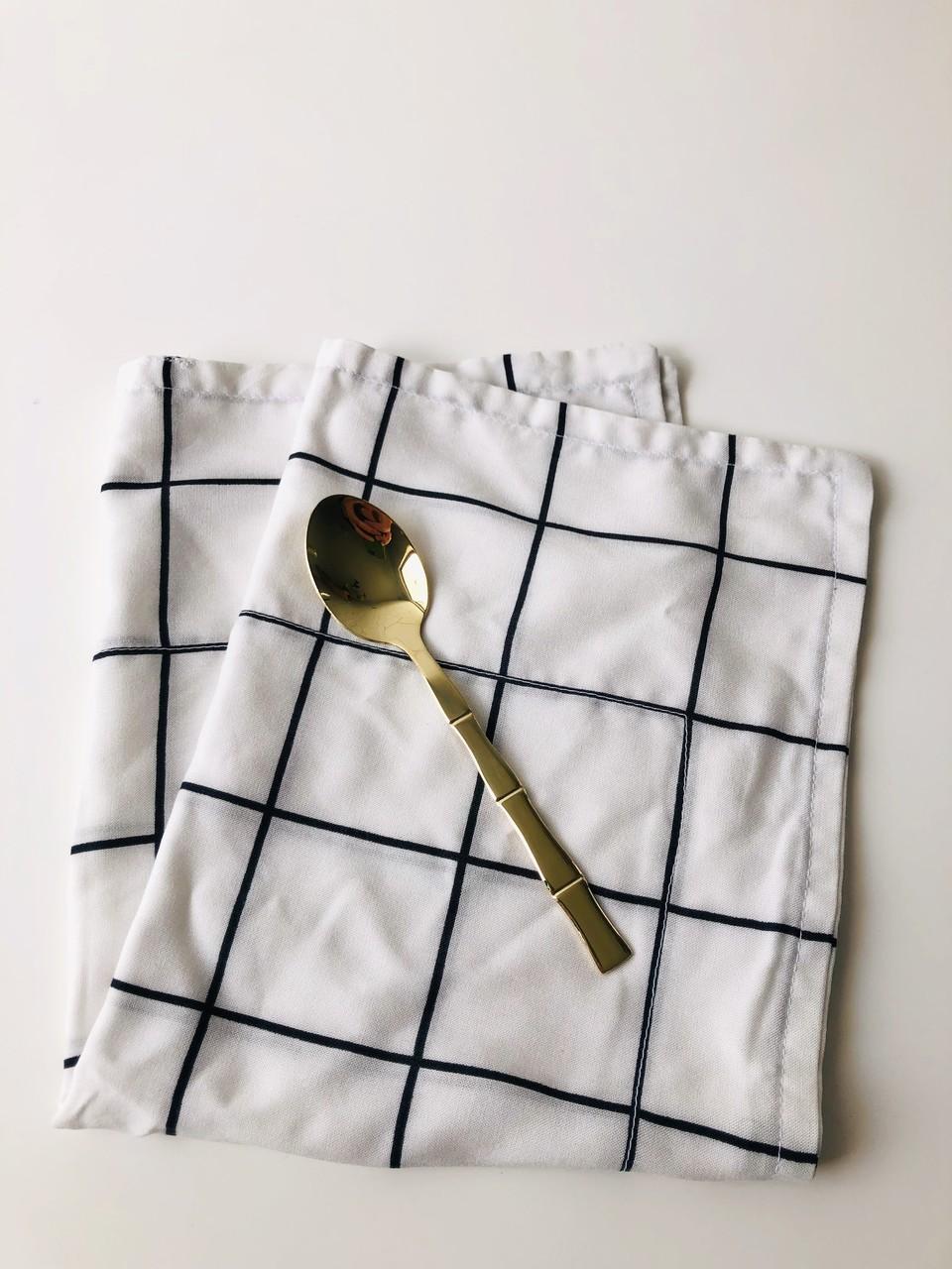Colher de Sobremesa Bambu Gold  - CASACOBRE
